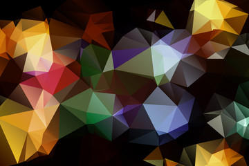 Pattern of geometric shapes. Triangles.Texture with flow of
