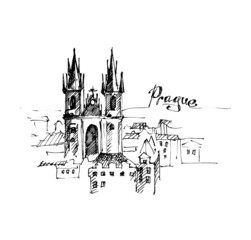 Prague - hand drawn