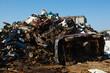 scrap metal heap outdoors