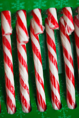 candy canes in green pack