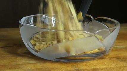 Bowl of Cereal, Milk, Grains, Breakfast Foods