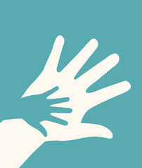 hands helping design
