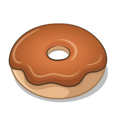 Chocolate Frosted Doughnut Vector