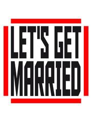 Lets get married square logo design