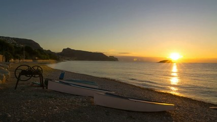 Sunrise on Altea bay