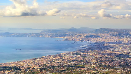 Bay of Naples. Naples, Italy. Time Lapse