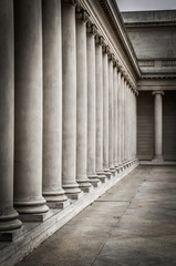 Columns in the courtyard of the Palace of the Legion of Honor
