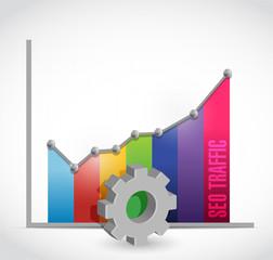 seo color graph color illustration