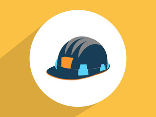 Construction Helmet ,Flat design style