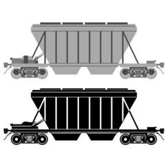 Railway carriage for bulk cargo