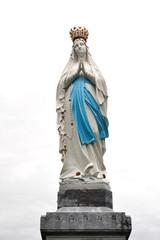 Madonna Statue at Lourdes Sanctuary, France