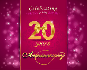 20 year anniversary golden label, 20th anniversary