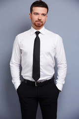 businessman in white shirt