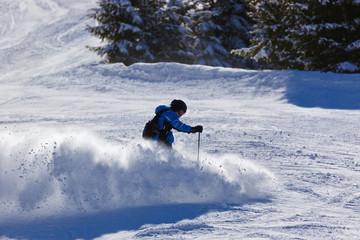 Skier at mountains ski resort Bad Gastein - Austria