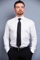 businessman in white shirt