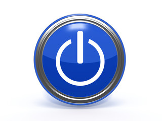 power circular icon on white background