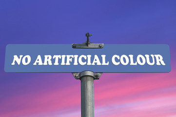 No artificial colour road sign