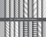 20 striped pattern set
