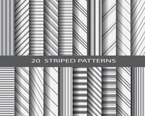 20 striped pattern set