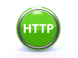 http circular icon on white background