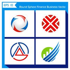 round sphere finance business vector