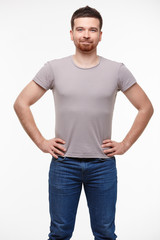 man in jeans and a T-shirt