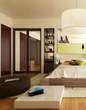 canvas print picture - Luxury Sleeping Apartment (focus)