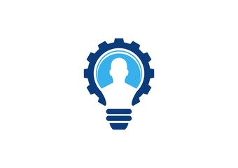 lamp logo,people idea think,engine business solution,light bulb