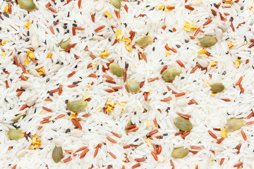 Rice with Cereal Grain mix background