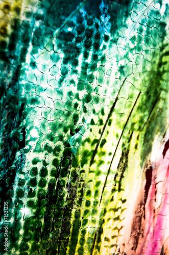Aluminium Olieverf Kunstdruk Farben Malerei abstrakt Struktur grün