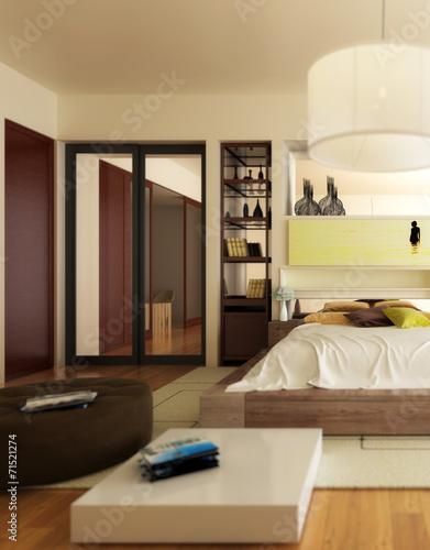 canvas print picture Luxury Sleeping Apartment (focus)