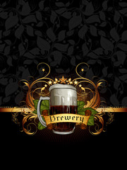ornate frame with beer elements