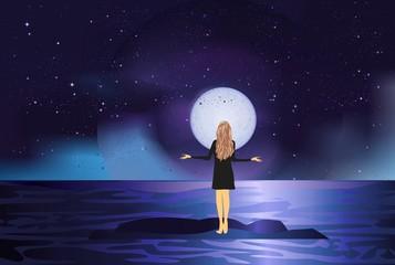 dziewczyna i księżyc,