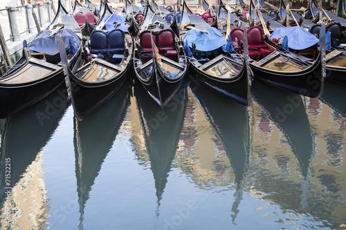 Deurstickers Gondolas Venetian gondolas