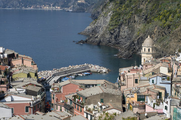 Vernazza, Cinque Terre, Ligurien, Italien; Liguria, Italy