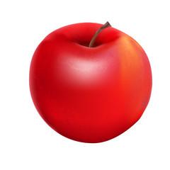 Sweet Tasty Apple Vector Illustration.