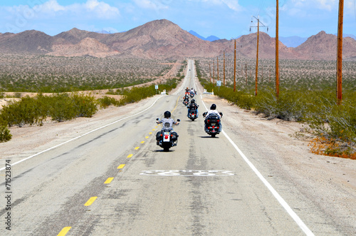 Foto op Canvas Route 66 balade moto