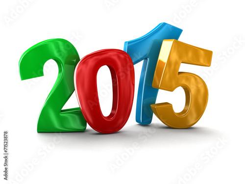 Leinwandbild Motiv New Year 2015 (clipping path included)