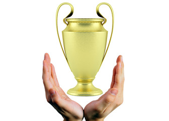 hand and victory gol cup