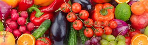 fresh fruit and vegetable background