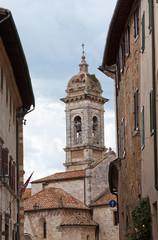San Francesco's church in San Quirico d'Orcia, Tuscany, Italy