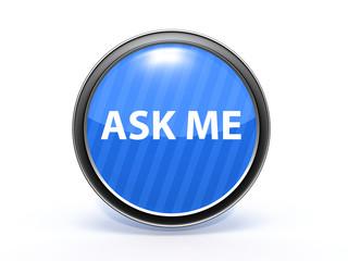 ask me circular icon on white background