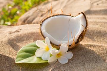 Coconut and frangipani