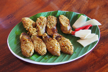 Northern style Thai sausage