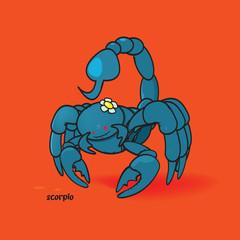funny zodiac sign scorpio vector illustration
