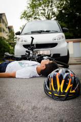 unglück mit dem fahrrad