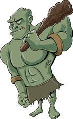 Cartoon evil troll