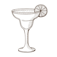 Margarita cocktail in a glass.