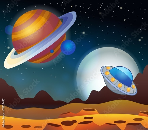 Foto op Canvas Image with space theme 2