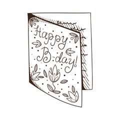 Greeting card for birthday.